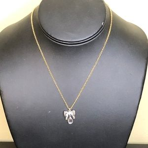 Juicy Couture Bow Gold Silver Necklace